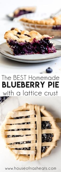 Deliciously sweet and juicy with a buttery, flaky crust, nothing quite compares to a classic Homemade Blueberry Pie! It's the ultimate summer dessert with plump, fresh or frozen blueberries for an easy blueberry pie filling and my perfect pie crust that wins every time! #pie #blueberries #blueberrypie #best #recipe #easy #fresh #frozen #fromscratch #homemade Homemade Blueberry Pie, Best Blueberry Pie Recipe, Best Blueberry Muffins, Homemade Pie, Blueberry Recipes, Summer Desserts, Fun Desserts, Delicious Desserts, Dessert Recipes
