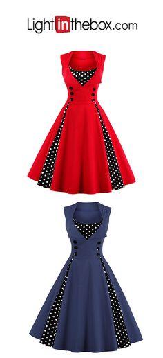 Women's Plus Size Going out Vintage A Line Dress