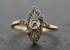 Antique Art Deco Ring Vintage Diamond Art Deco by AlistirWoodTait, £1,295.00
