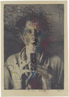 Horst Janssen, Selbst, 1976, Fotoradierung