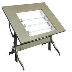 Delicieux Mayline Lighted Drafting Table | Description Vintage Drafting Table Large  Adjustable Drafting Table .
