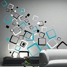 Samolepky na zeď - Samolepka na zeď - Moderní čtverce
