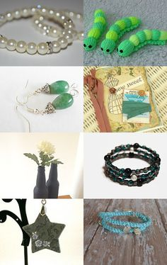 Summer Greens and Blues by Robin on Etsy--Pinned with TreasuryPin.com