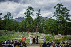 Sara Smith Outdoor Chapel at YMCA of the Rockies in Estes Park, Colorado. #Wedding #Rustic #Mountains