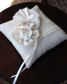 ring bearer - vintage burlap.