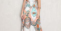 vestido longo estampado tropical   Dress to   Brazilian Fashion - Moda do Brasil   Pinterest   Tropical dress, Vestidos and Tropical