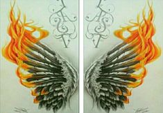 Wing Tattoos On Back, Up Tattoos, Feather Tattoos, Body Art Tattoos, Cool Tattoos, Tatoos, Wing Tattoo Designs, Phoenix Tattoo Design, Phoenix Tattoos