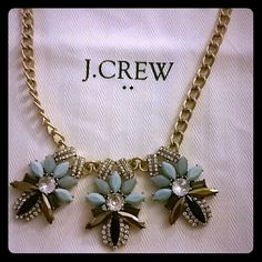 J. Crew Triple Fleur Necklace New with tags, excellent condition. Comes with white dust bag J. Crew Jewelry Necklaces