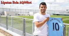 Manchester City striker Sergio Aguero puts his new No 10 shirt on display after he decided to change from No 16 shirt for the Prem. Manchester City, Sergio Aguero, Change, Shirts, Blog, T Shirts, Rome, Blogging, Dress Shirts