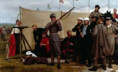 Volunteers at the Firing Point, 1866