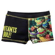 Teenage Mutant Ninja Turtles Swim Trunks - Black
