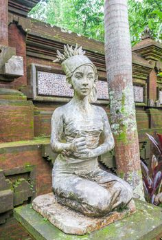A statue at Gunung Kawi Temple in Bali, Indonesia.