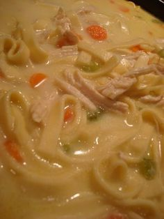 Creamy Chicken Noodle Soup -- sounds good for this coming week!