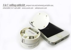 3 in 1 usb compact kit #retractable usb cable  cusvin.com