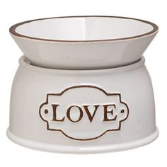 A simple earthenware surface #reflects the #sweet purity of #Love's message <3 #Scentsy #ElementCollection #ScentsyWarmer #NoLight #HomeDecor #IChooseScentsy