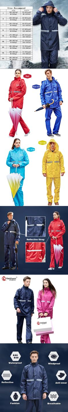Rainfreem Impermeable Raincoat Women/Men Suit Rain Coat Outdoor Women Hood Motorcycle Raincoat Camping Fishing Rain Gear Poncho