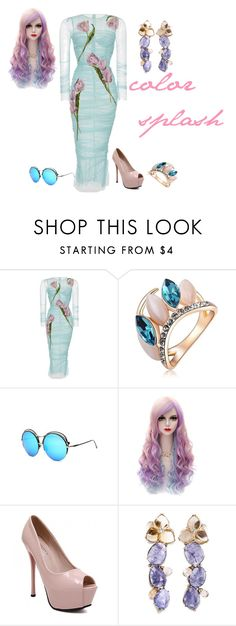 """""""color splash contest"""" by empathetic ❤ liked on Polyvore featuring Dolce&Gabbana"""