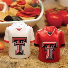 Texas Tech Red Raiders Salt and Pepper Shakers Ceramic Set