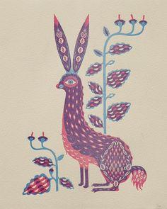 Klaus Haapaniemi, Rabbit limited edition letterpress print for Wilkintie