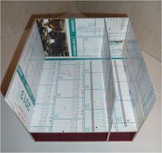 Cartonnage : Tuto de la desserte à couture ChaDaNel - Le-voyage-du-sac-à-cadeaux Cardboard Storage, Diy Cardboard, W 6, Storage Boxes, Things To Think About, Origami, Decoupage, Scrapbook, Sewing