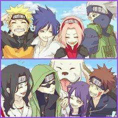 Team 7 and Team -Naruto-Naruto Shippuden Naruto Sd, Anime Naruto, Naruto Teams, Naruto And Hinata, Sakura And Sasuke, Sakura Haruno, Manga Anime, Hinata Hyuga, Naruto Girls