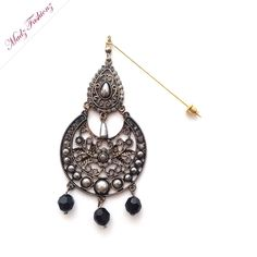 black pearl hijab pin gold headwear modest jewels handmade hijab jewelry usa set