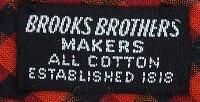 Brooks Brothers is the oldest menswear store in the US. Founded in 1818. Label from a 60s tie. via @jubaloo_