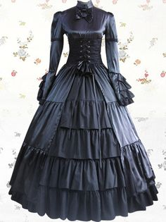 >> Click to Buy << elegant Vintage victorian lolita dress Ladies evening party bandage slim Flounced long gothic dress lolita costume #Affiliate
