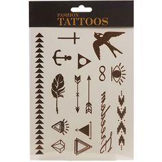 Arrow Metallic Temporary Tattoos
