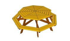Octagon Picnic Table on Pinterest | Picnic Tables, Picnic Table Plans ...