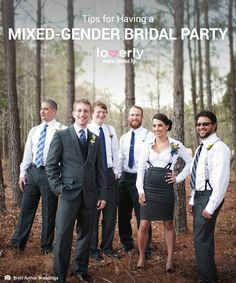 How To Pull Off A Mixed-Gender Bridal Party Like A Champ   Loverly Planning - Part 16043