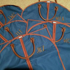 Personalized Men's Garment Bag - Groomsmen's Hanging Bag - Personalized Garment Bag by MJMonograms on Etsy