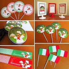 Resultado de imagem para festa italiana personalizada