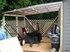 This lean-to shed is what I had in mind.