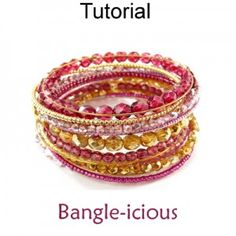 Bangle-icious Wire Working Beaded Memory Wire Bracelet Jewelry Making Beading Pattern Tutorial
