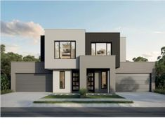 Browse our new range of Sydney home designs to suit your budget, land size and bedroom requirements. Explore our Sydney home designs available at Metricon. Row House Design, Duplex Design, Modern House Design, Two Storey House Plans, Large Floor Plans, Modern House Facades, First Home Buyer, Storey Homes, Display Homes