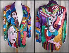 PICASSO Cubist Design Sandy Starkman Vintage 80s by OGOvintage, $119.00