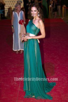 Eugenia Silva Green One Shoulder Prom Dress Starlight Charity Gala Red Carpet