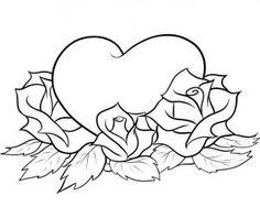 heart with ivy tattoo drawings | How to Draw Hearts and Roses, Step by Step, Tattoos, Pop Culture, FREE ...