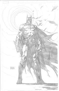Batman Pin up (Grail) - Finch/Williams, in Justin Belmont's Batman Comic Art Gallery Room - 959212