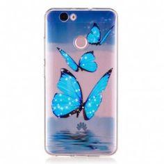 Carcasa /Husa Huawei Nova - Shiny Butterflies, Slim, Silicon