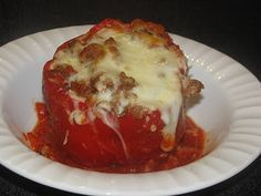 I LOVE to make these stuffed peppers with cauliflower instead of rice! Great for those 17 day dieters out there!