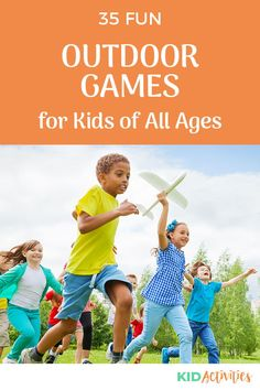 A collection of fun outdoor games for kids. Great for summertime fun. Enjoy anywhere a group of kids are gathered, such as a park, family reunion, school, or a church event. #KidActivities #KidGames #ActivitiesForKids #FunForKids #IdeasForKids Outdoor Games For Toddlers, Outdoor Games For Kids, Outdoor Fun, Group Games For Kids, Activities For Kids, Motor Activities, Games For Grade 1, Summer Party Games, Outside Games