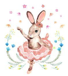 dancing rabbit illustration