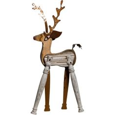 Recycled Standing Reindeer