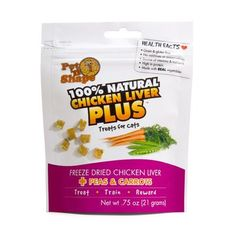 Freeze Dried Chicken Liver Plus Peas and Carrots Cat Treats - 0.75 oz. [Set of 48] *** You can get additional details at the image link.