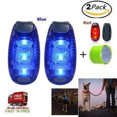 2 PCS LED Safety Light High Visibility Night Reflector Tool Gear Kids Dog Biking #Kootek