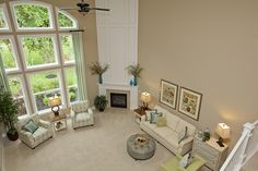 2-Story Great Room with Amazing Wall of Windows
