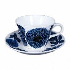 Gustavsberg Blå Aster kaffekopp Porcelain Ceramics, Ceramic Pottery, Tea Cups, Blue And White, Retro, Tableware, House, Vintage, Design