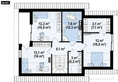 Müstakil Bir Ev Yaptırmak: Fikir Verecek Modeller ve Projeler | Ev Gezmesi Floor Plans, Home Plans, Floor Plan Drawing, House Floor Plans